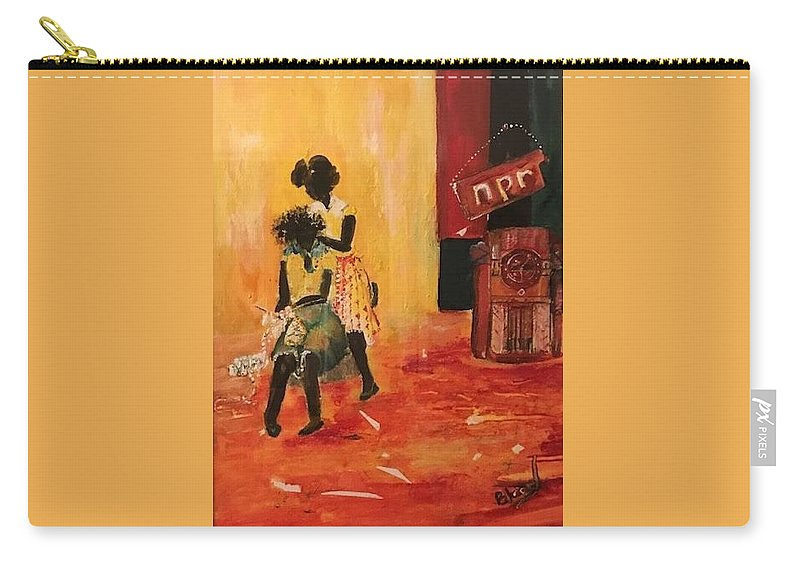 Figurative Carry-all Pouch featuring the painting Grooving by Peggy Blood