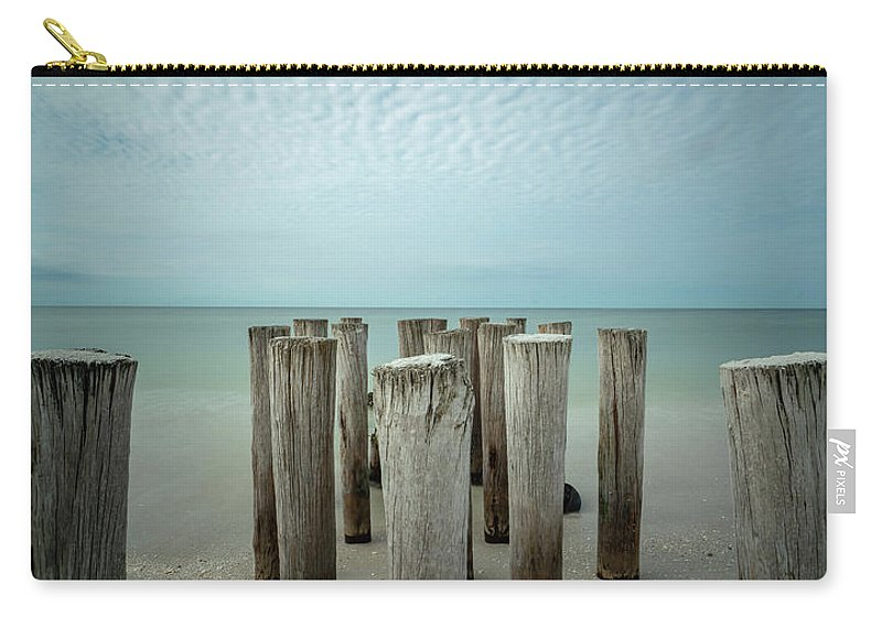 Naples Florida 2021 Carry-all Pouch featuring the photograph Naples Pilings 2021 by Joey Waves