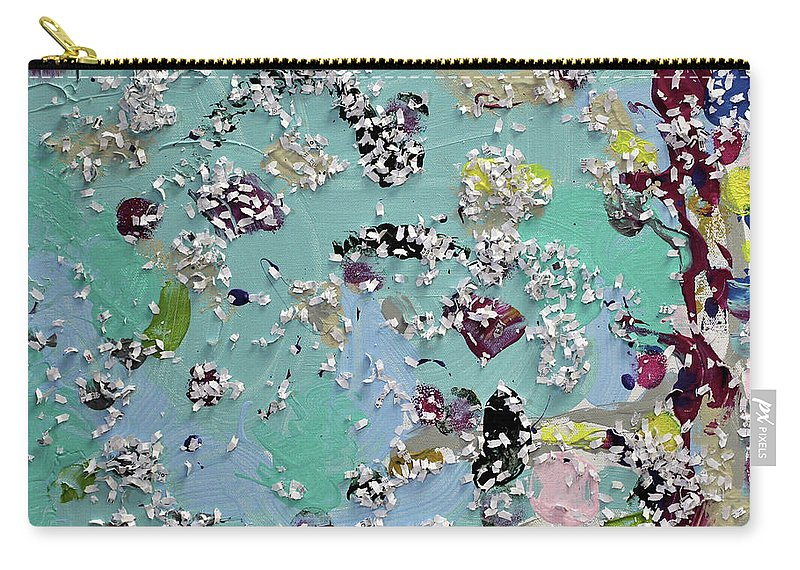 Blue Carry-all Pouch featuring the painting Party Time by Pam Roth O'Mara