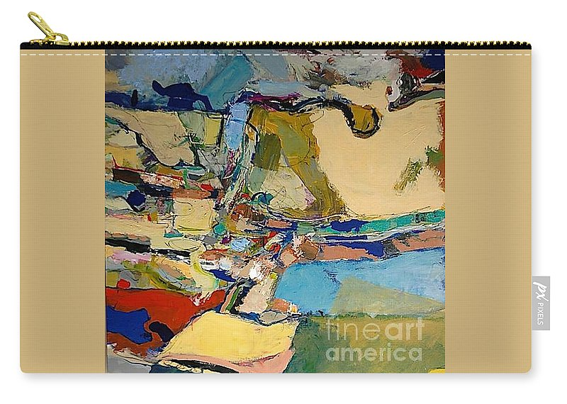Landscape Carry-all Pouch featuring the painting Pastime Drive by Allan P Friedlander