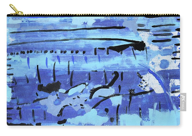 Colorado Carry-all Pouch featuring the painting Something Blue by Pam Roth O'Mara