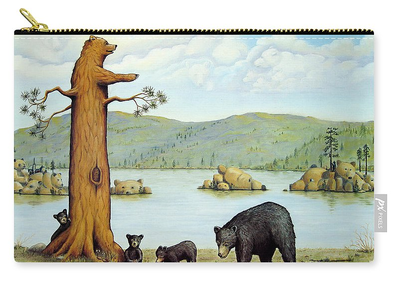 Bears Carry-all Pouch featuring the painting 27 Bears by Jerome Stumphauzer
