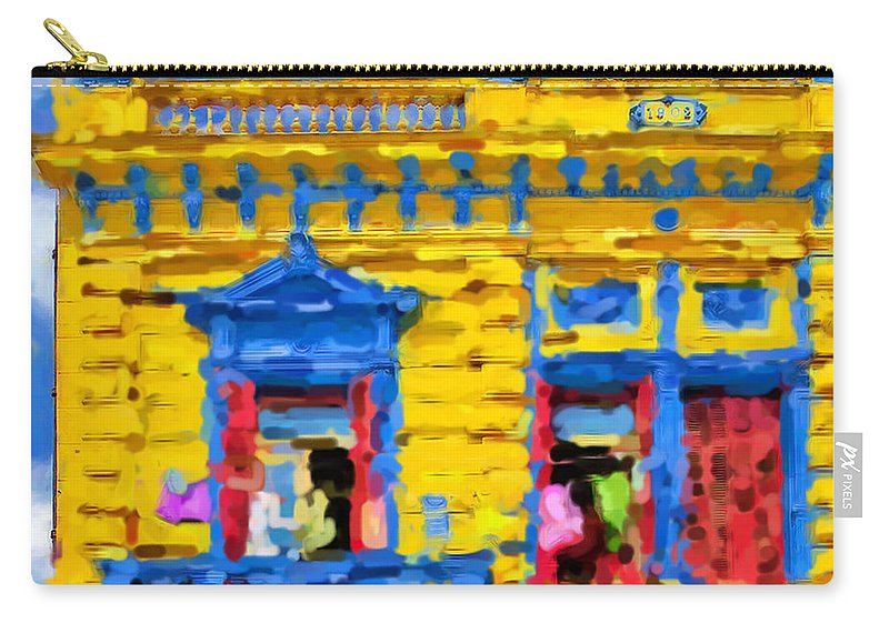 Buenos Aires Carry-all Pouch featuring the mixed media Buenos Aires by Asbjorn Lonvig