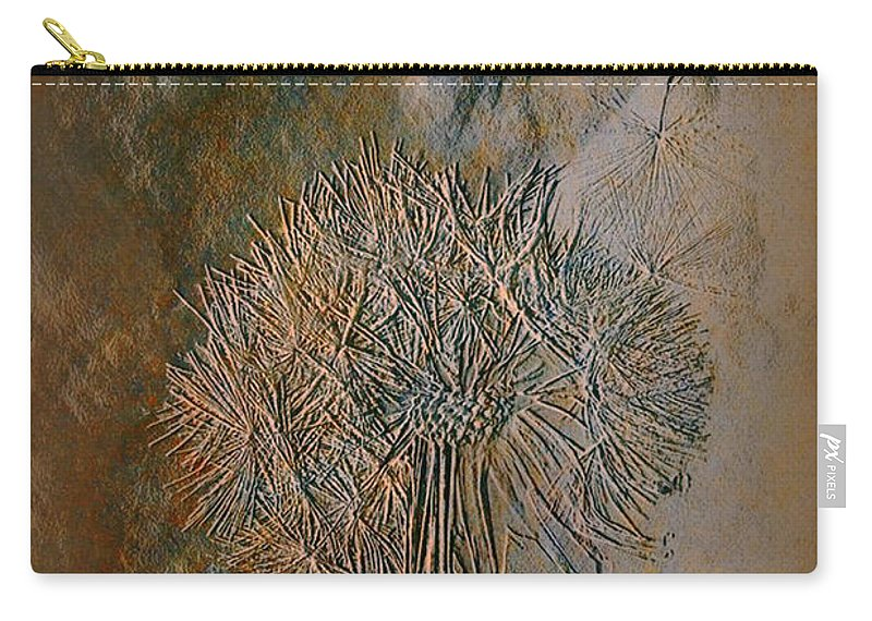 Imprint Art Carry-all Pouch featuring the photograph Imprint by Linda Sannuti
