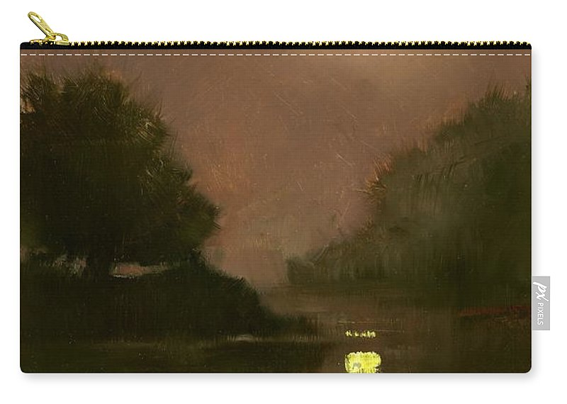 Miniatures Carry-all Pouch featuring the painting A Clear Evening by Jim Gola