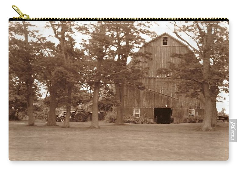 Farm Carry-all Pouch featuring the photograph A Farmers Life by Rhonda Barrett