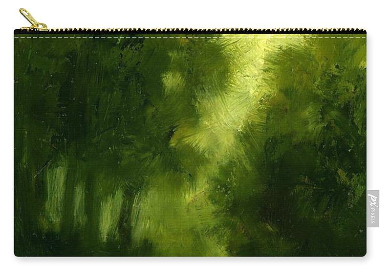 Miniature Oil Paintings Carry-all Pouch featuring the painting A Hazy Day by Jim Gola