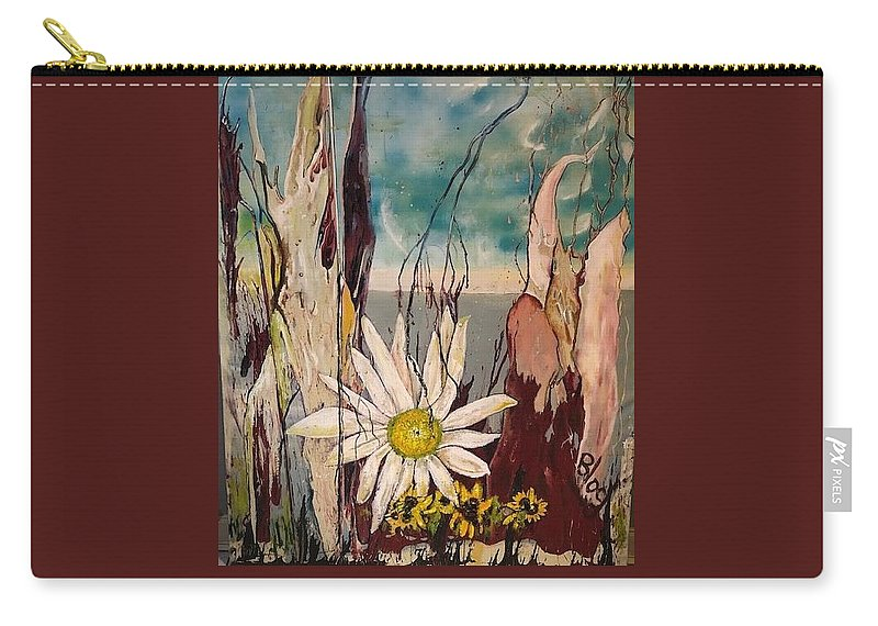 Trees Carry-all Pouch featuring the painting A Moment by Peggy Blood