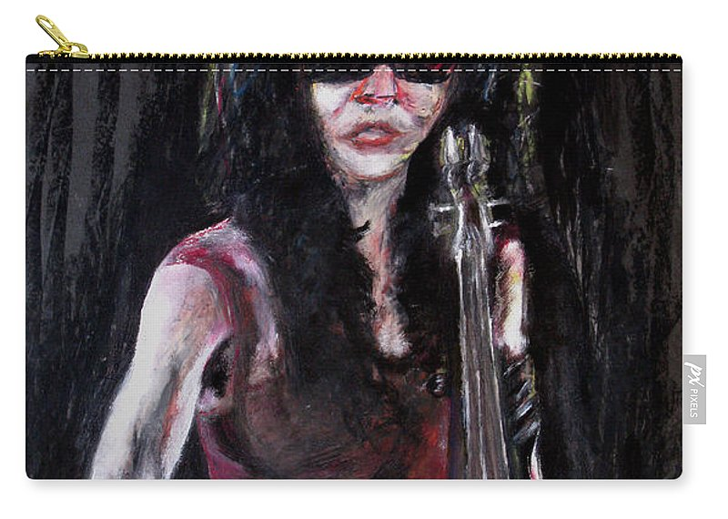 Woman Carry-all Pouch featuring the painting A New Sensation by Tom Conway