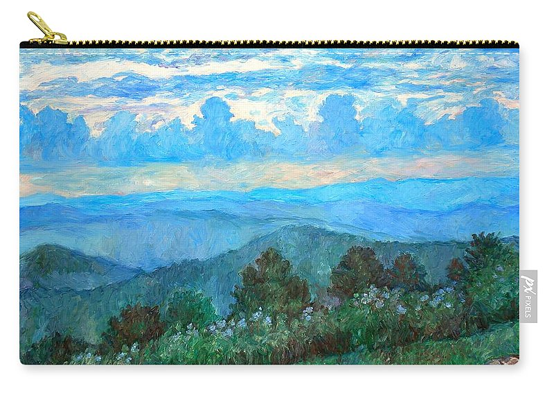 Landscape Carry-all Pouch featuring the painting A Path to Rock Castle Gorge in the Evening by Kendall Kessler