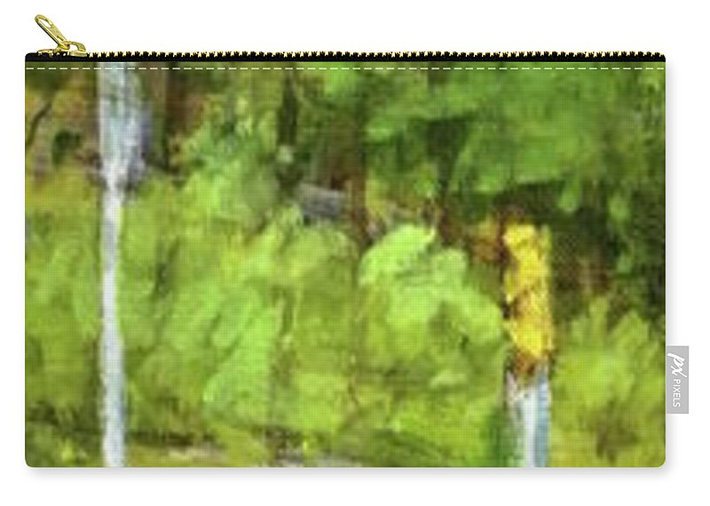Traffic Carry-all Pouch featuring the painting A Slice Of Broadway by Peter Salwen
