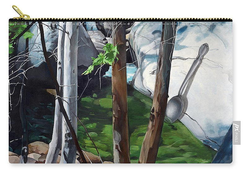 Landscape Carry-all Pouch featuring the painting A Taste of Nature by Snake Jagger