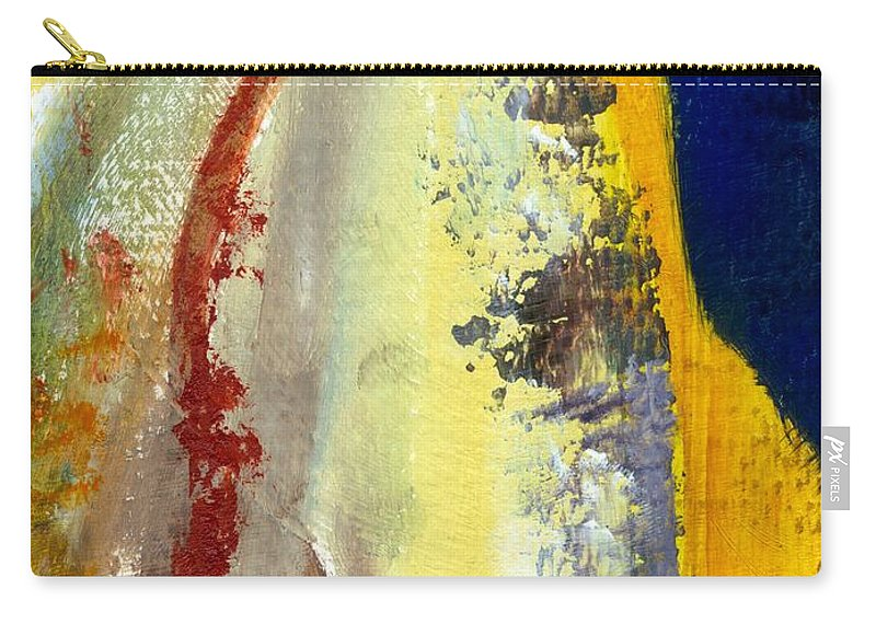 Rustic Carry-all Pouch featuring the painting Abstract Color Study ll by Michelle Calkins