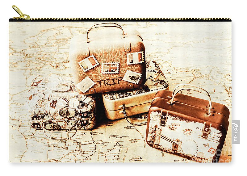 Tourism Carry-all Pouch featuring the photograph Adventure Map by Jorgo Photography - Wall Art Gallery