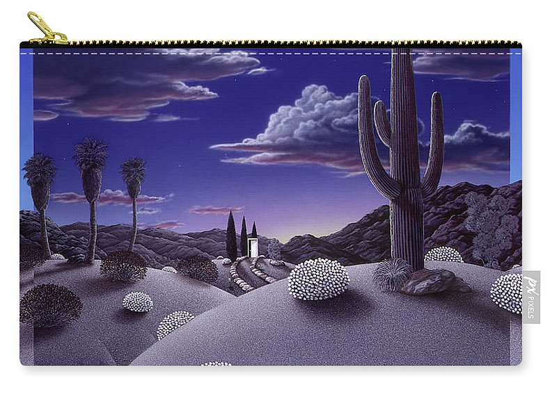 Desert Carry-all Pouch featuring the painting After the Rain by Snake Jagger
