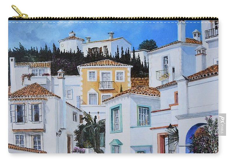 City Carry-all Pouch featuring the painting Afternoon Light In Montenegro by Sinisa Saratlic