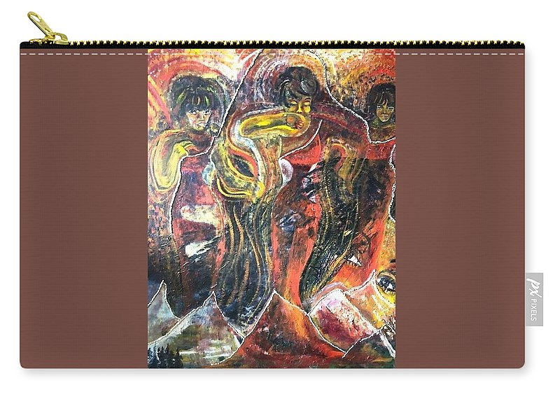 Women Carry-all Pouch featuring the painting Ain't No Mountain High Enough by Peggy Blood