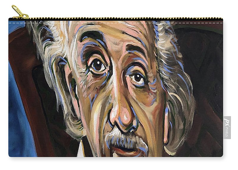 Albert Carry-all Pouch featuring the painting Albert Einstein by Buffalo Bonker