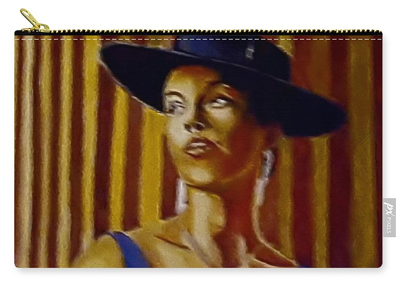 Portrait Carry-all Pouch featuring the painting Alica by Andrew Johnson