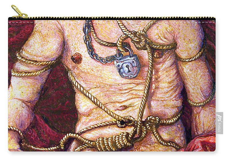 Surrealism Carry-all Pouch featuring the painting All Tied Up In Knots by Otto Rapp