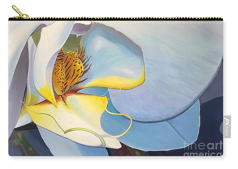 Orchid Carry-all Pouch featuring the painting All You Need is Now by Hunter Jay