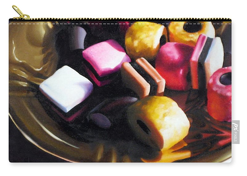 Allsorts Carry-all Pouch featuring the pastel Allsorts of Colour by Dianna Ponting