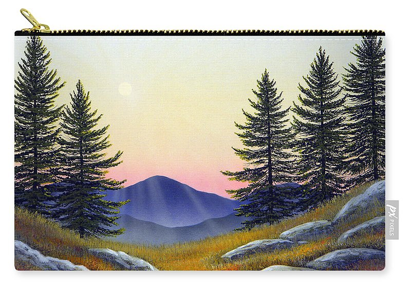 Landscape Carry-all Pouch featuring the painting Alpine Meadow by Frank Wilson
