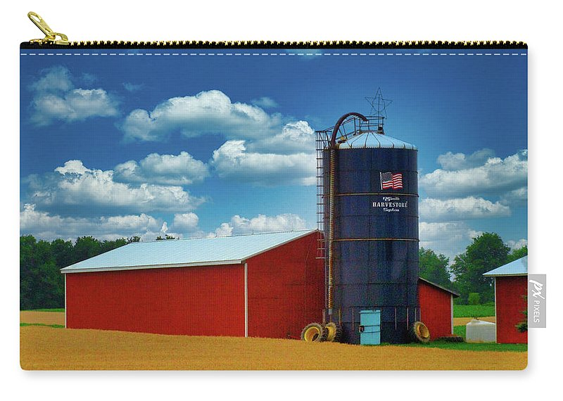 Farm Carry-all Pouch featuring the photograph American Farmland by Rhonda Barrett