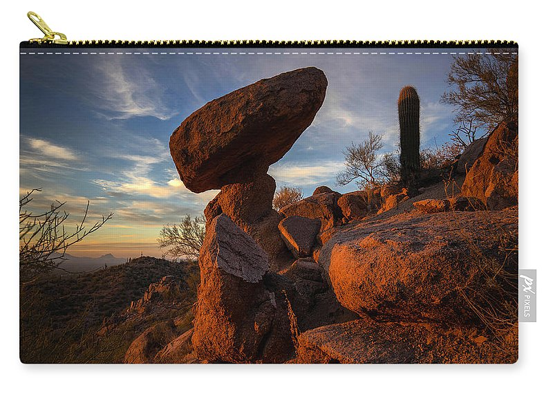Photography Carry-all Pouch featuring the photograph Ancient Ones by Kati Astraeir