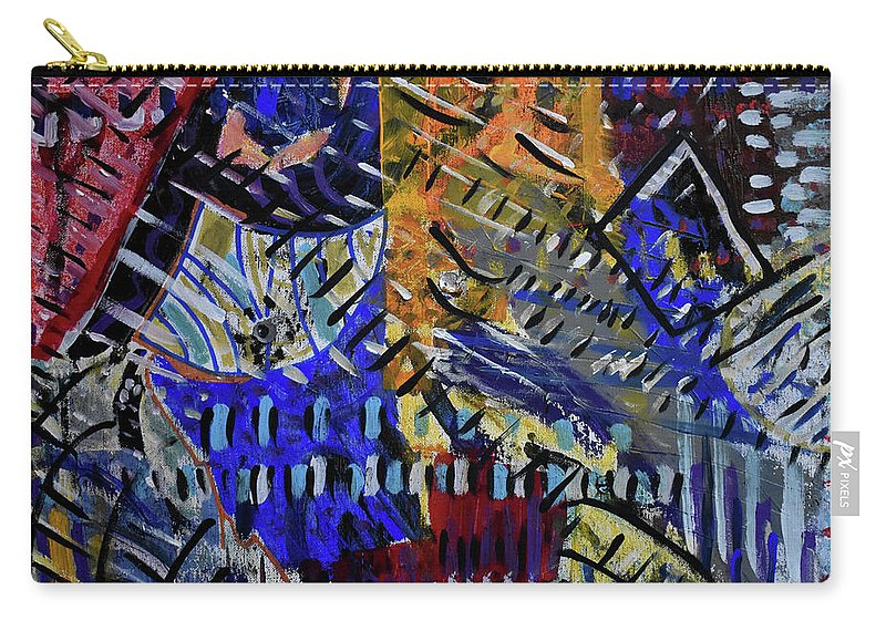 Colorado Carry-all Pouch featuring the painting And Then It Rained by Pam Roth O'Mara
