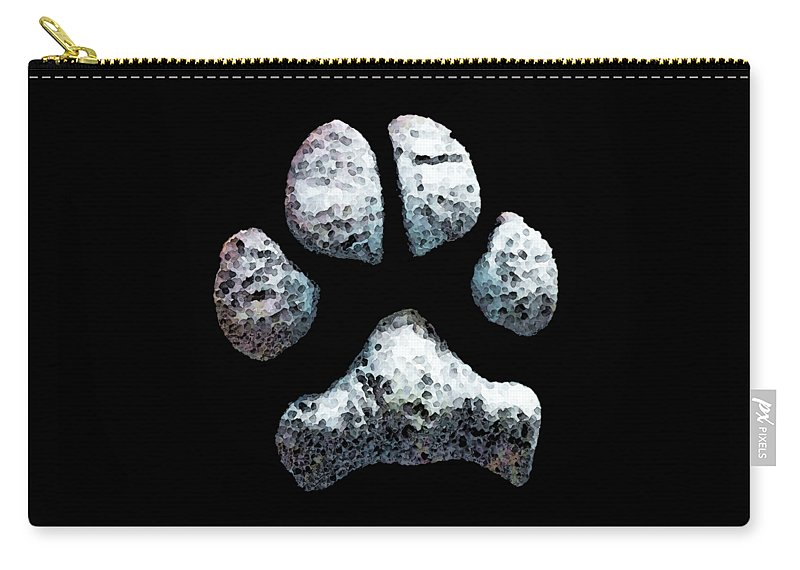 Dog Carry-all Pouch featuring the painting Animal Lovers - South Paw by Sharon Cummings
