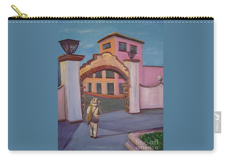 Mexico Carry-all Pouch featuring the painting Arco de Jiutepec by Lilibeth Andre