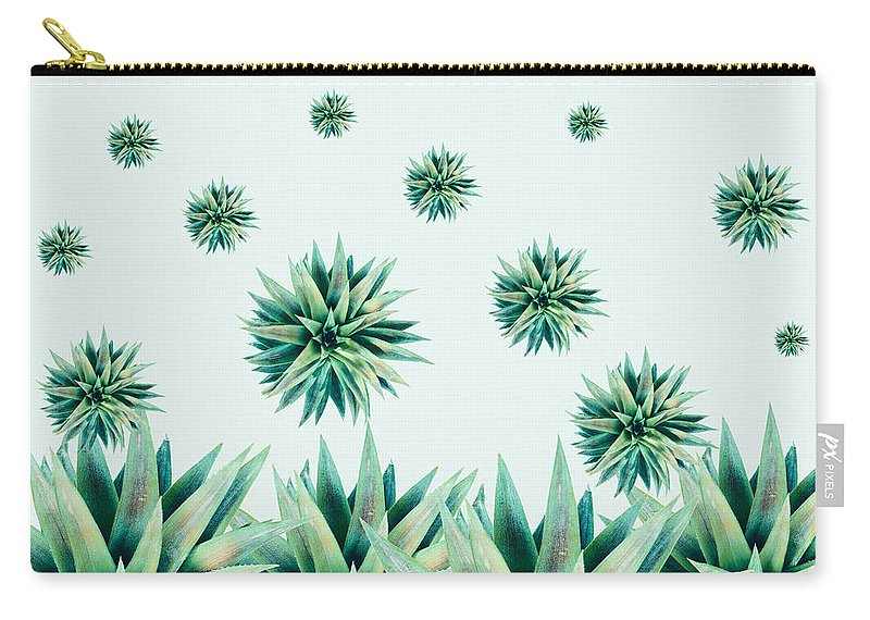 Cactus Carry-all Pouch featuring the painting Tropical Stars by Mark Ashkenazi