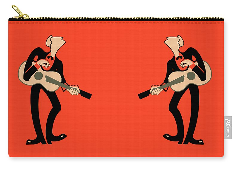 Guitar Carry-all Pouch featuring the photograph The Guitarist by Mark Rogan