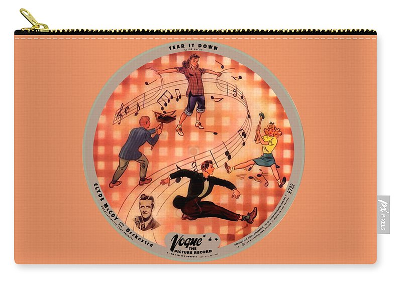 Vogue Picture Record Carry-all Pouch featuring the digital art Vogue Record Art - R 722 - P 6 by John Robert Beck