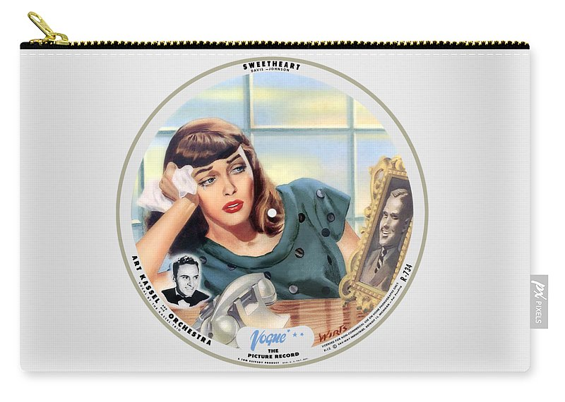 Vogue Picture Record Carry-all Pouch featuring the digital art Vogue Record Art - R 734 - P 12 by John Robert Beck