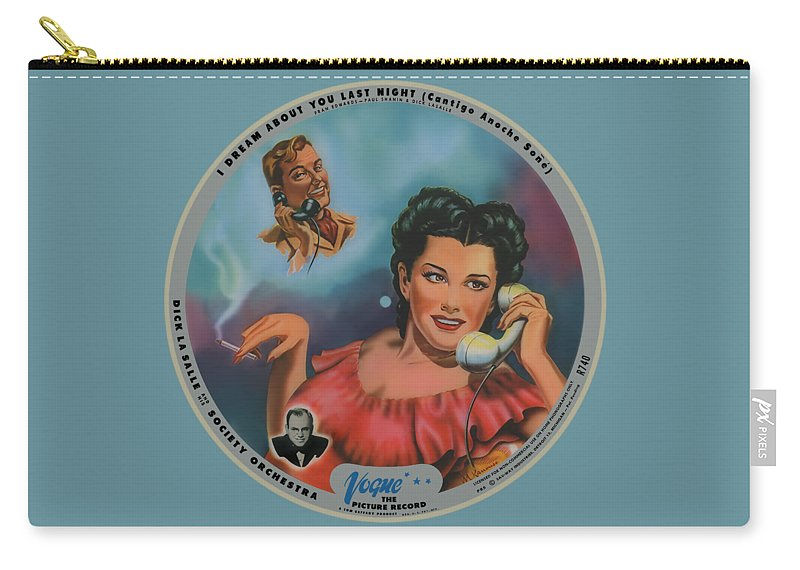Vogue Picture Record Carry-all Pouch featuring the digital art Vogue Record Art - R 740 - P 85 by John Robert Beck