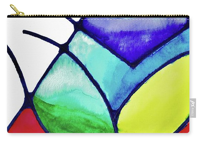 Abstract Carry-all Pouch featuring the painting Ascension by Della McGee