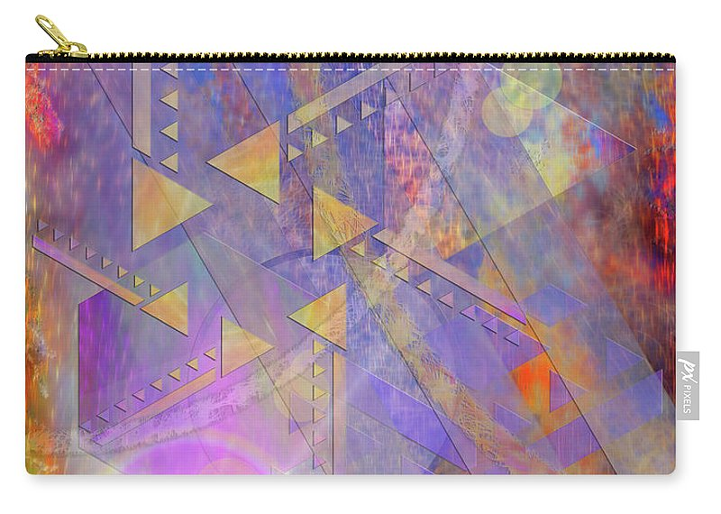 Aurora Aperture Carry-all Pouch featuring the digital art Aurora Aperture by John Robert Beck