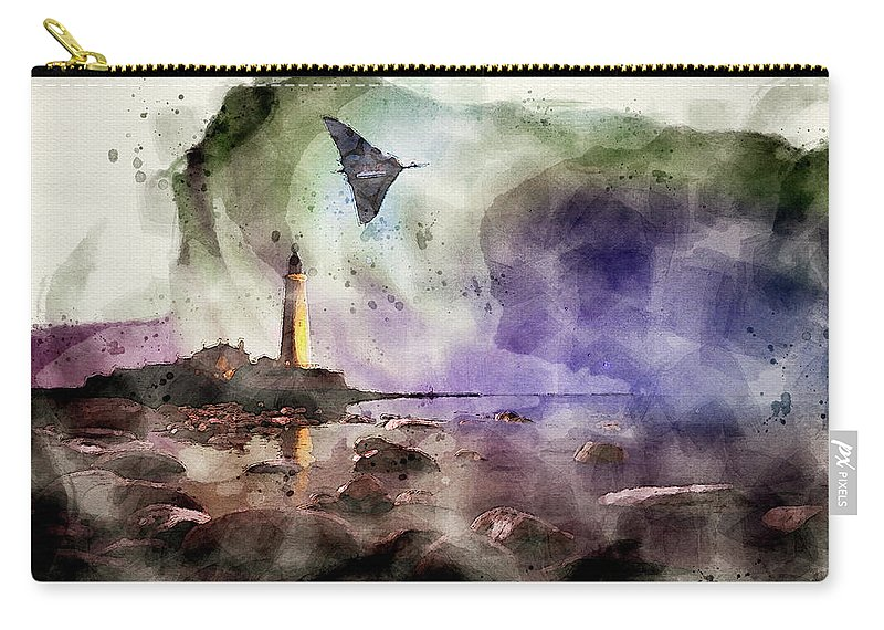 Vulcan Xh558 Carry-all Pouch featuring the mixed media Auroral Splendour For The Vulcan by Smart Aviation