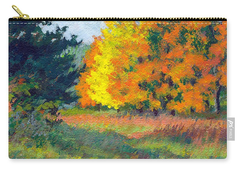 Landscape Carry-all Pouch featuring the painting Autumn Etude by Keith Burgess