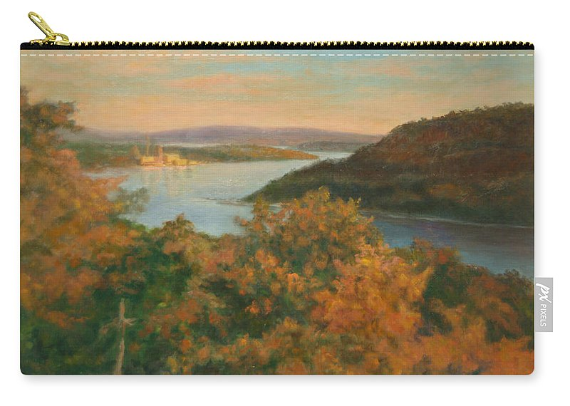 Landscape Carry-all Pouch featuring the painting Autumn Hudson Highlands by Phyllis Tarlow