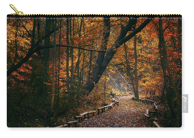 Fall Carry-all Pouch featuring the photograph Autumn In Riverside Park by Scott Norris
