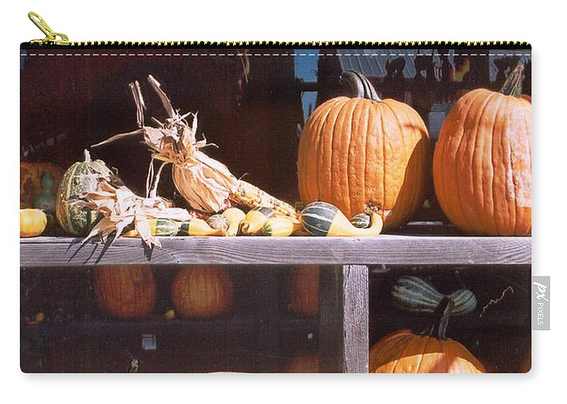 Still Life Carry-all Pouch featuring the photograph Autumn Still Life by Steve Karol