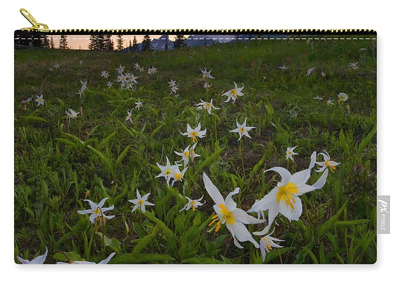 Lillies Carry-all Pouch featuring the photograph Avalanche of Lillies by Mike Dawson