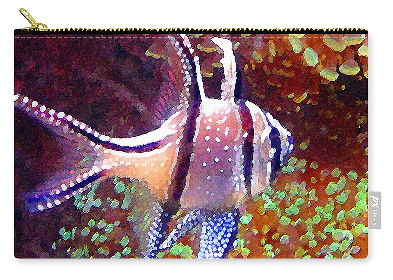Fish Carry-all Pouch featuring the painting Banggai Cardinalfish by Amy Vangsgard