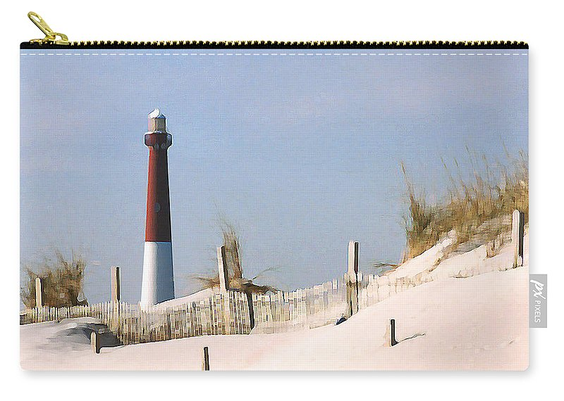 Barnegat Carry-all Pouch featuring the photograph Barnegat Lighthouse by Steve Karol