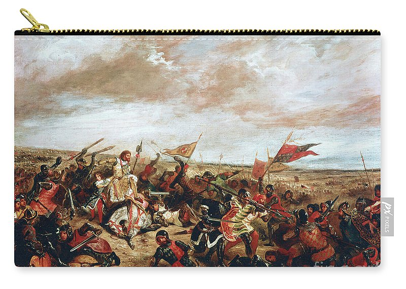 Poitiers Carry-all Pouch featuring the painting Battle of Poitiers on September 19, 1356 by Ferdinand Victor Eugene Delacroix