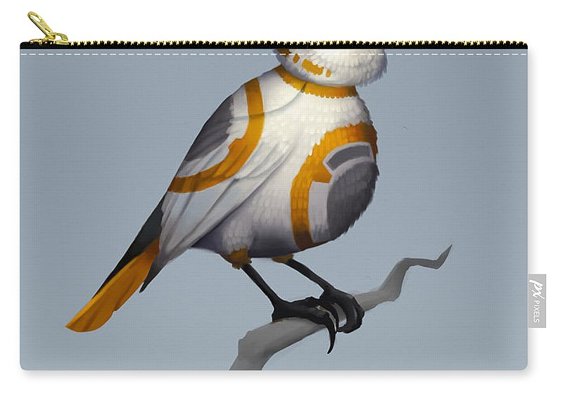 Birds Carry-all Pouch featuring the digital art BB Bird by Michael Myers