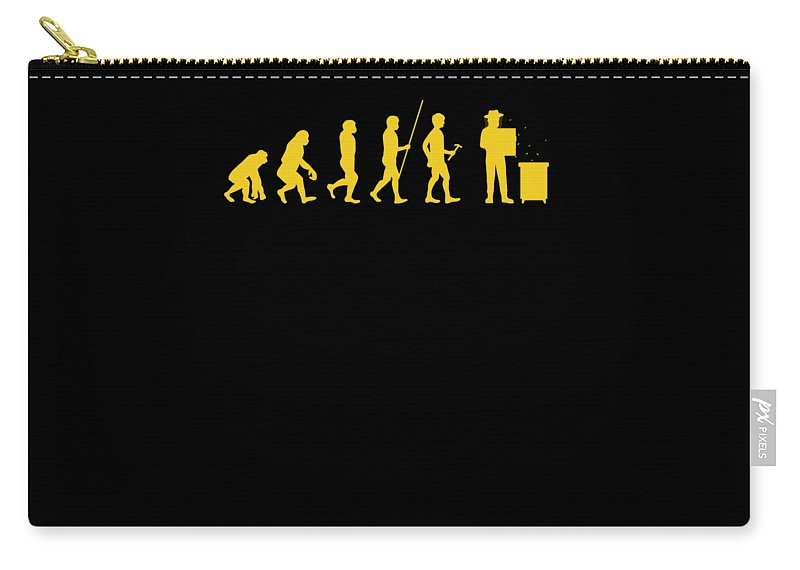 Bee Keeping Carry-all Pouch featuring the digital art Beekeeper Evolution Honey Bee Farmer Honeycomb Farming Apiarist by Thomas Larch